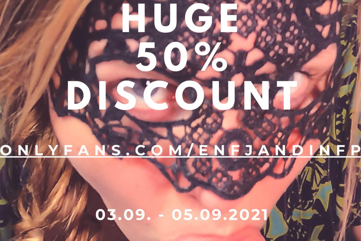 50% discount on my Onlyfans and fansly for 2 days only